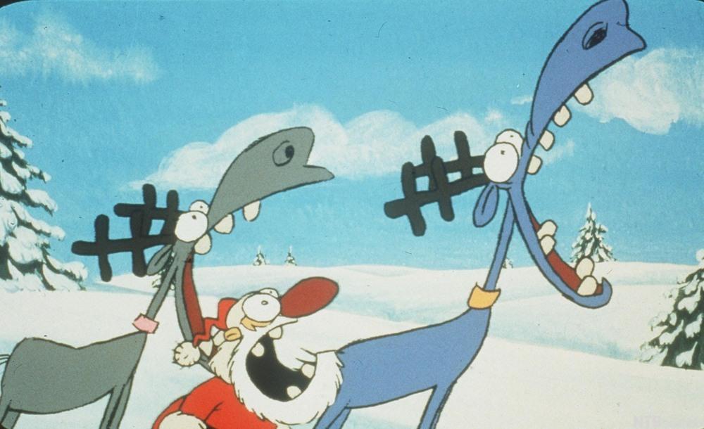 Filmplakat for animasjonsfilmen Lava-Lava. Illustrasjon.