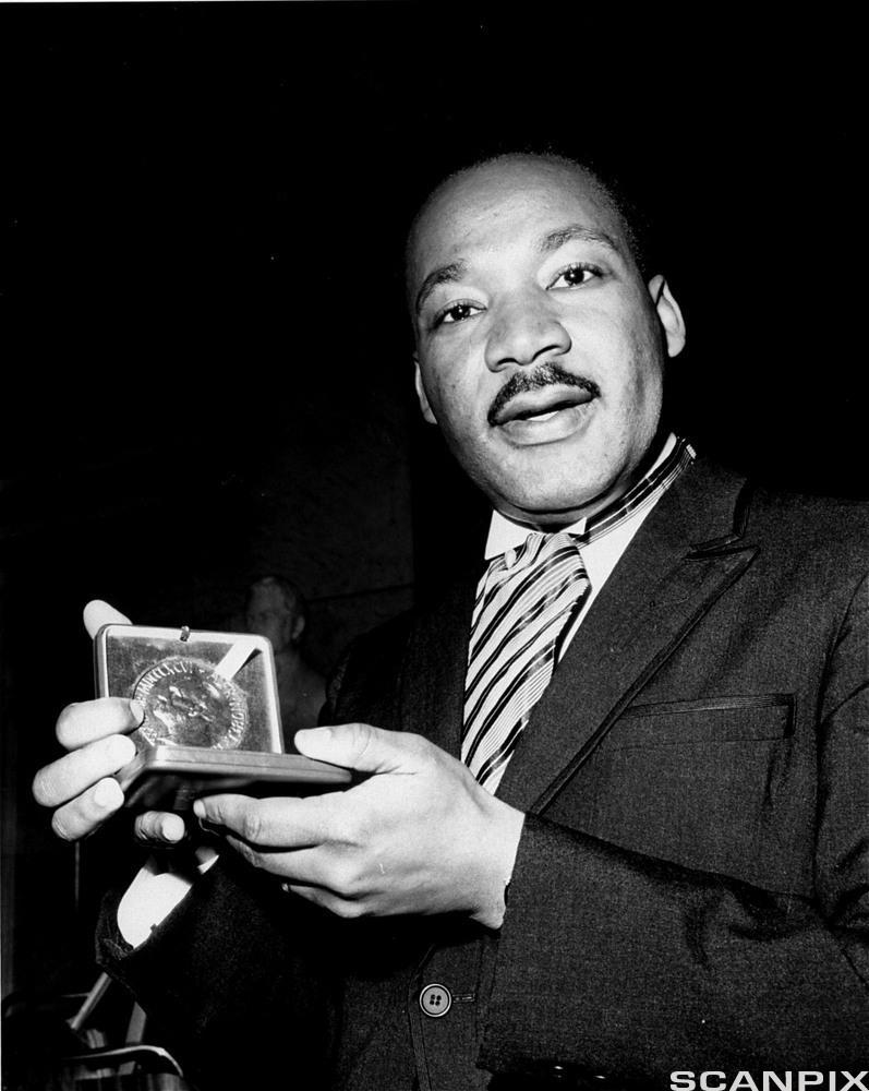 Martin Luther King har mottatt Nobels fredspris