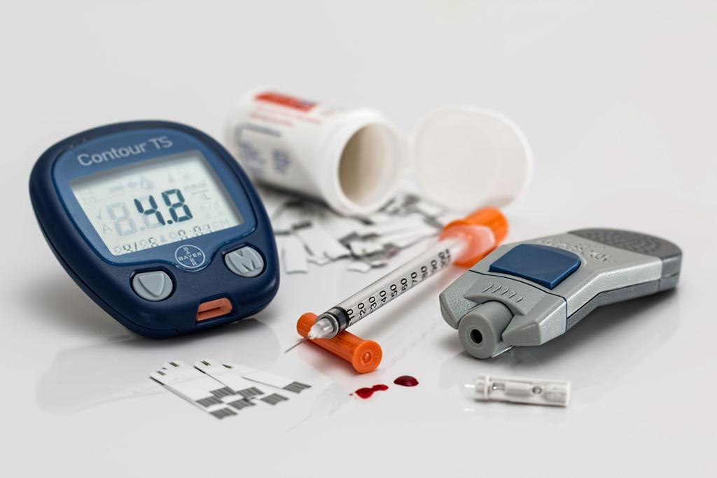 Hjelpemidler ved diabetes. Foto.
