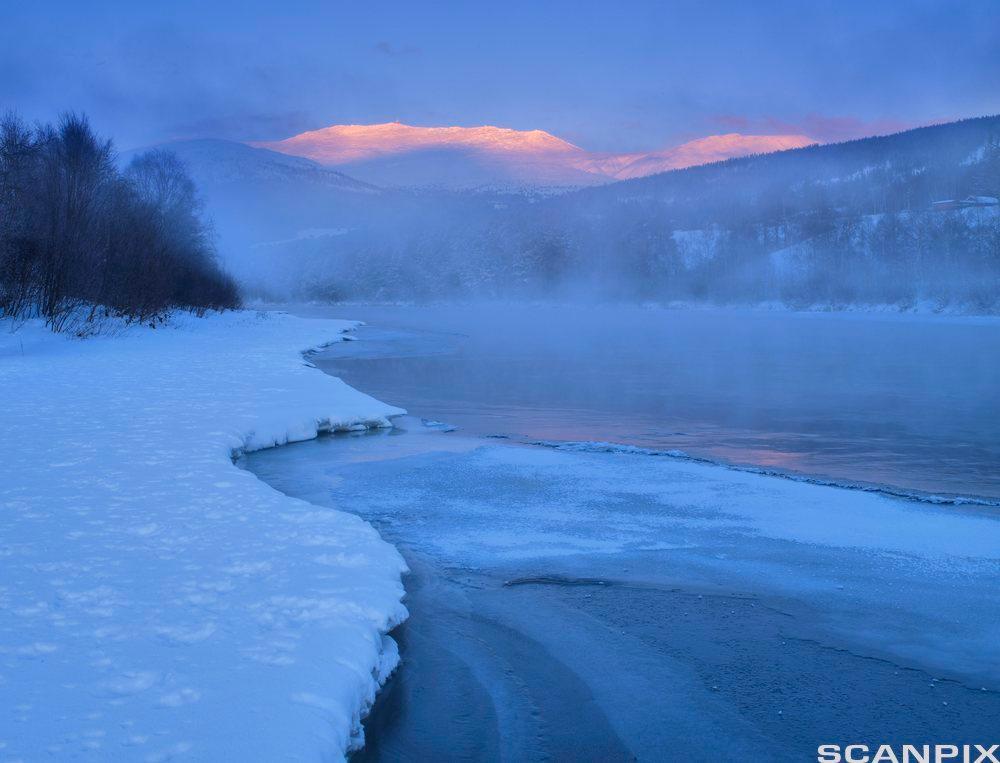 Vinterlandskap. Foto.