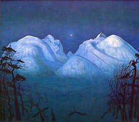 Vinternatt i Rondane. Foto.