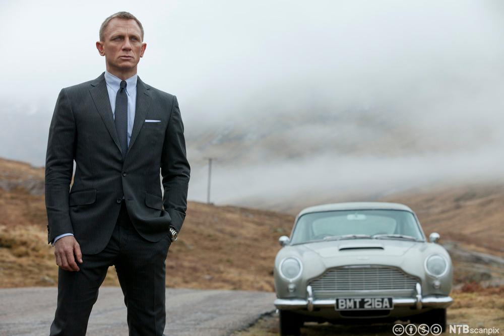 Daniel Craig som James Bond i filmen 𝘚𝘬𝘺𝘧𝘢𝘭𝘭. Foto.