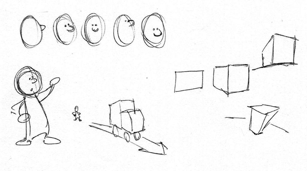 Skisseteknikker perspektivtegning. Tegning.