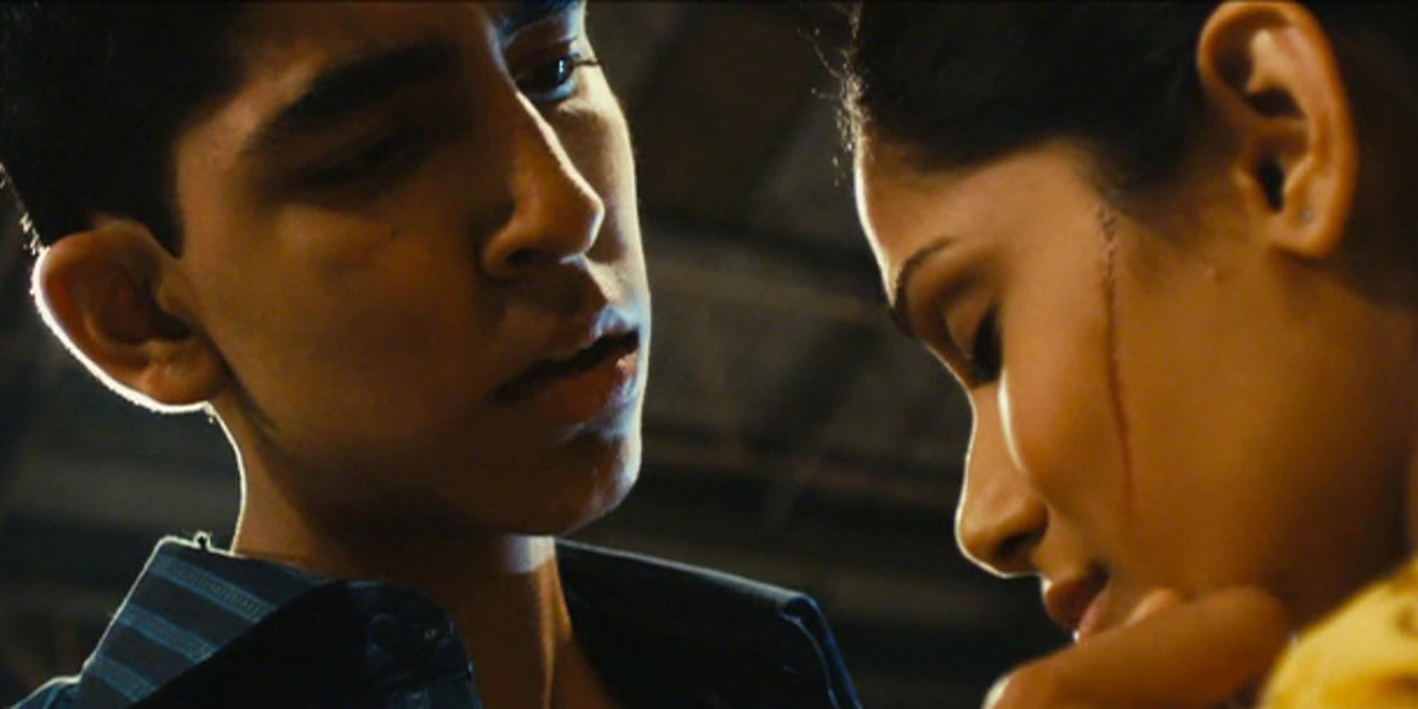 Utsnitt fra filmen Slumdog Millionaire.
