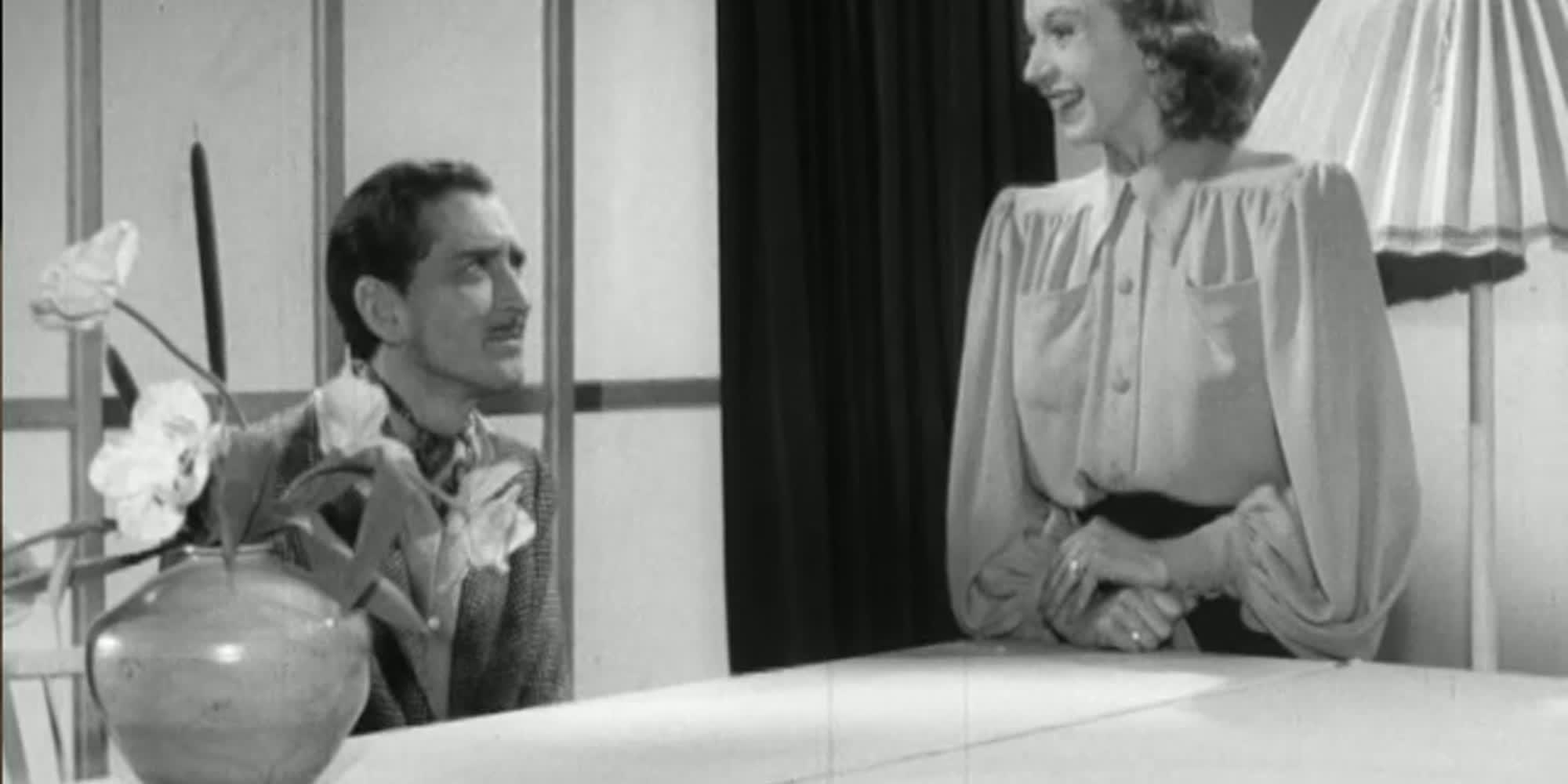 Utsnitt frå filmen En herre med bart.