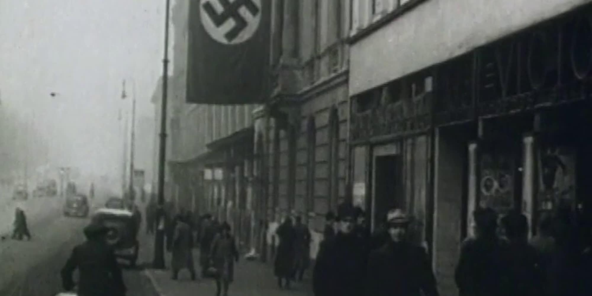 Utsnitt fra filmen M/S Donau : deportasjonen av norske jøder til Auschwitz 26.november 1942.