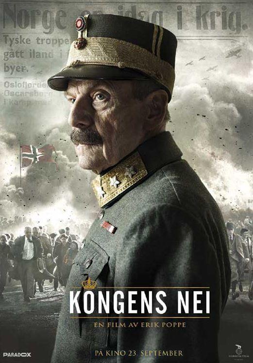 Filmplakat frå filmen Kongens nei.