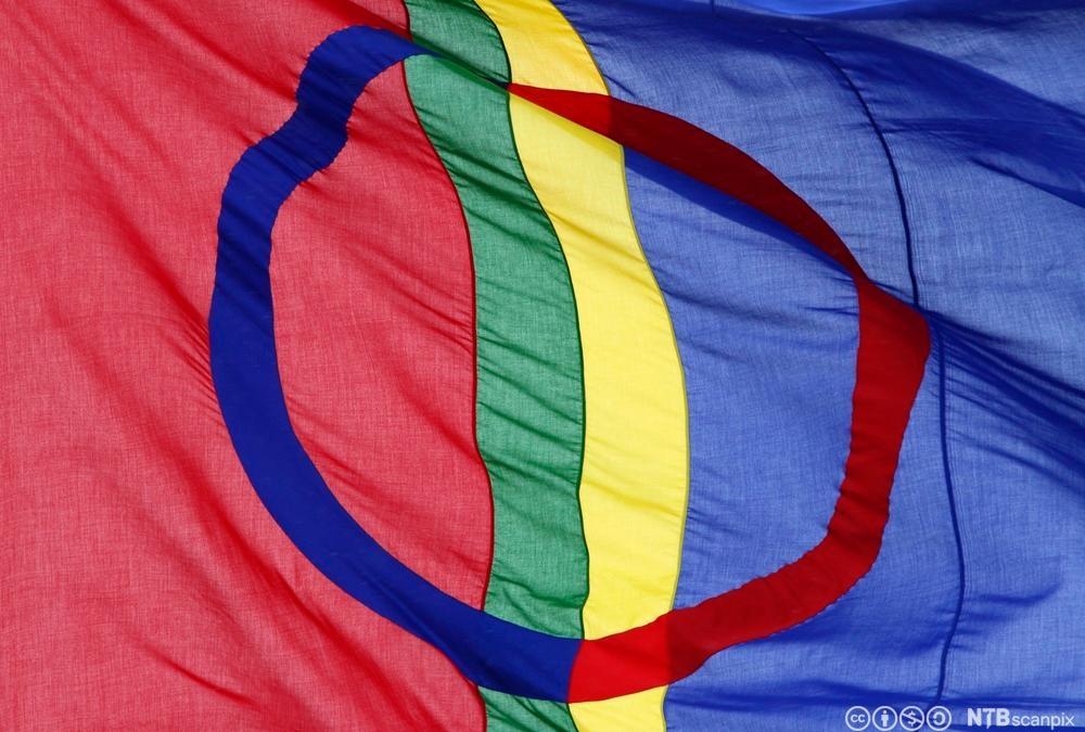 Det samiske flagget. Foto.