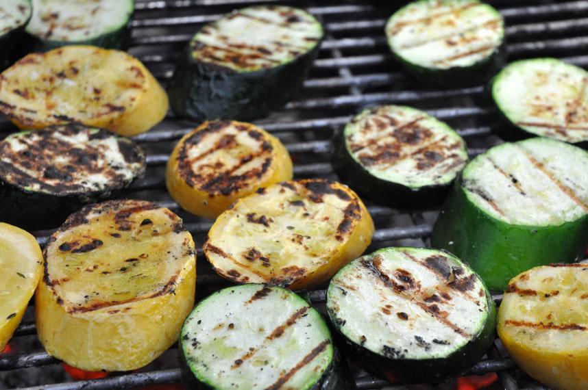 Grillede grønnsaker. Foto.