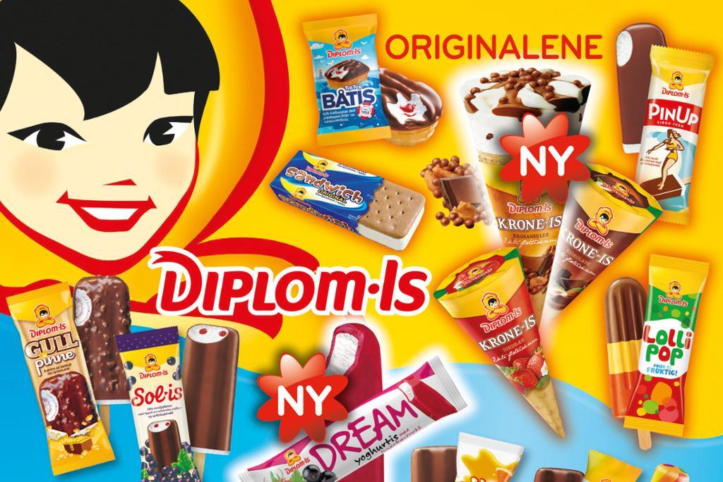 Bilde av iskartet til Diplom-Is.