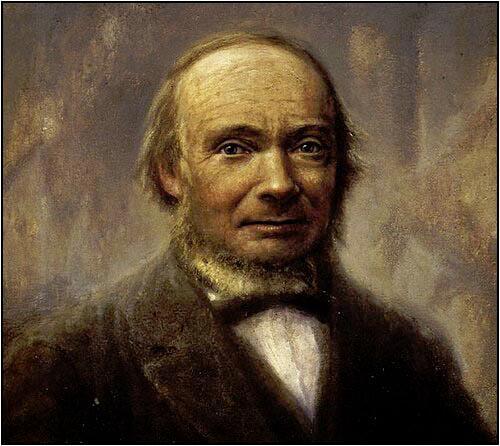 Portrett av Ivar Aasen. Maleri.