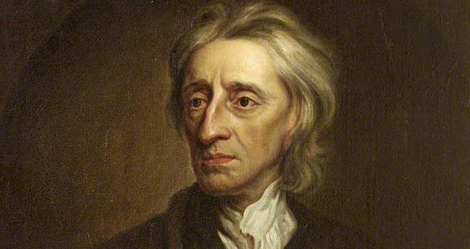 Malt portrett av den engelske opplysningsfilosofen John Locke. Maleri.