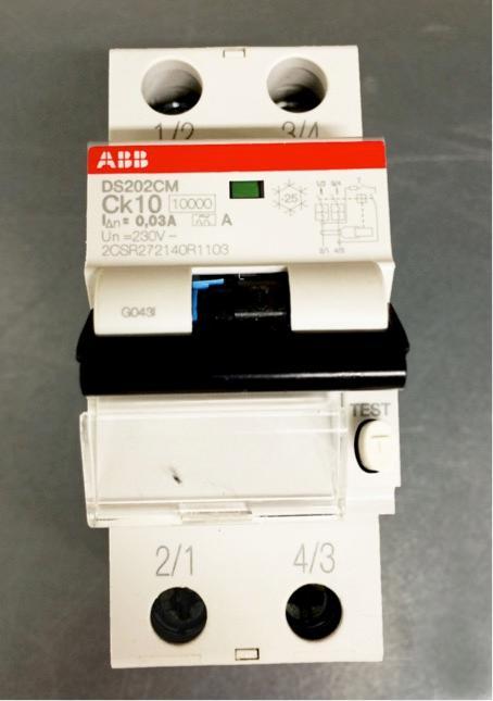 Bilde av jordfeilautomat. Foto.