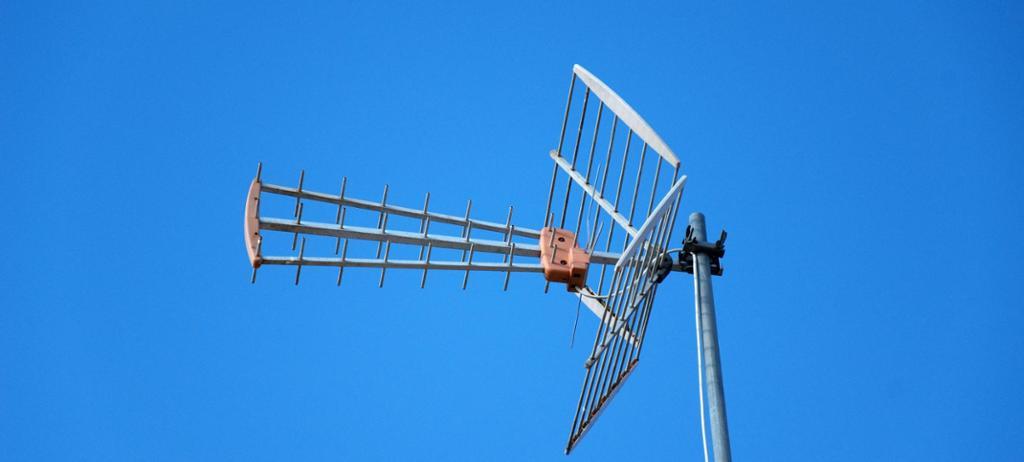 UHF-antenne. Foto.