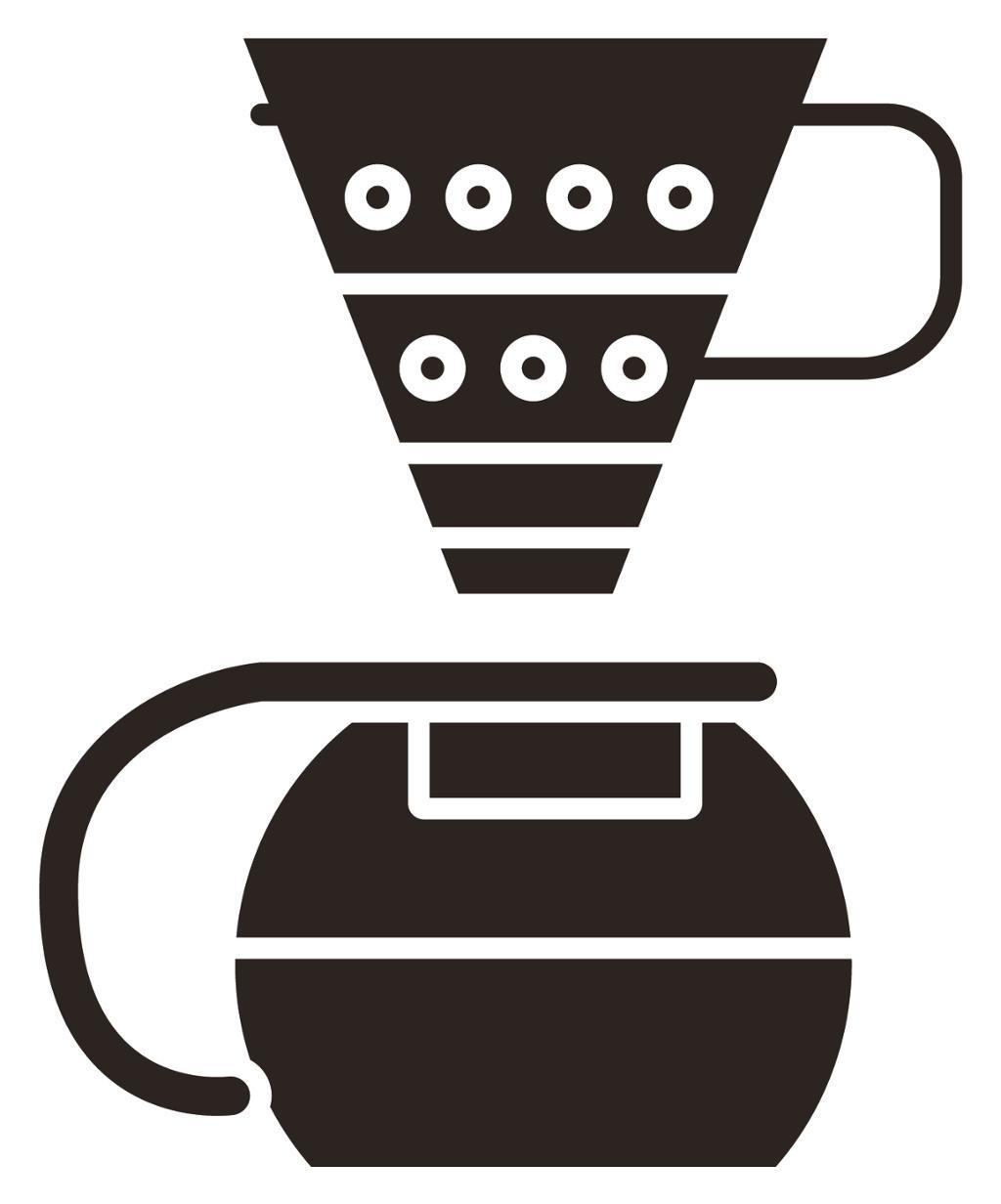 Kaffetrakter. Illustrasjon.