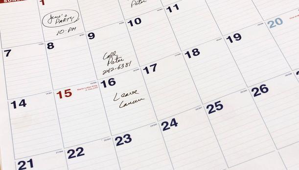 Kalender. Foto.
