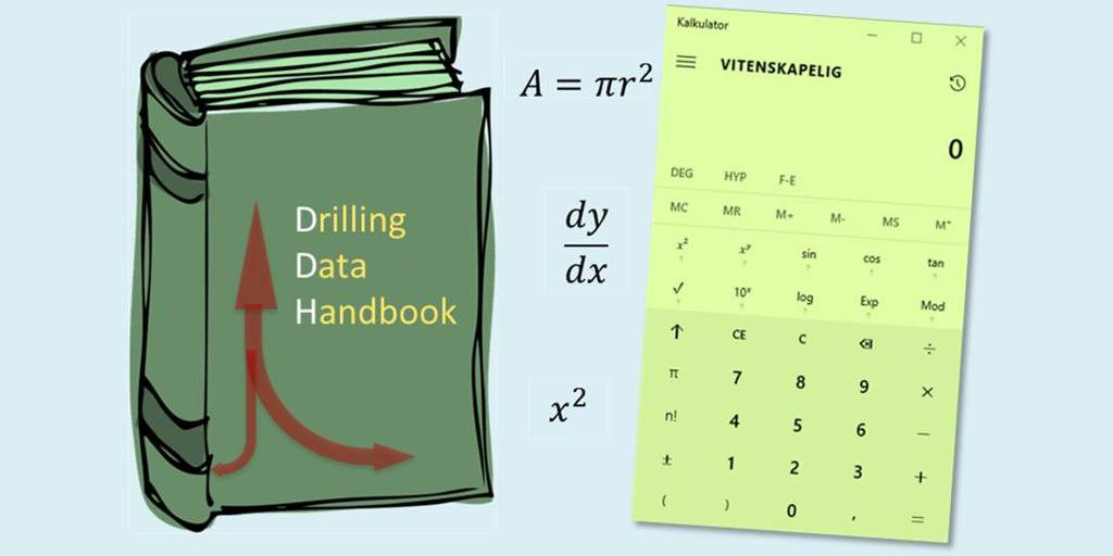 DDH og kalkulator. Illustrasjon.