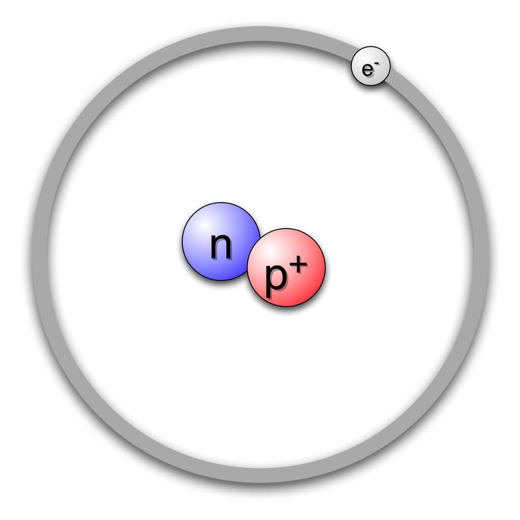 Deuteriummodell. Deuterium er et isotop av hydrogen.