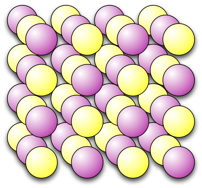 Ionebinding NaCl-krystall