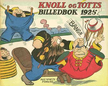 forsidebilde fra tegneserien Knoll og Tott.ilustrasjon.