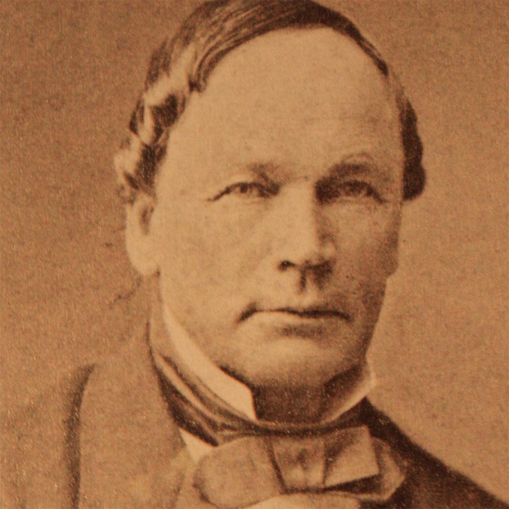 Portrett av Knud Knudsen. Foto.