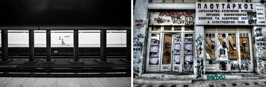 Bilder med kontraster. Foto.