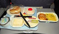 Kosher-måltid på fly.Foto.