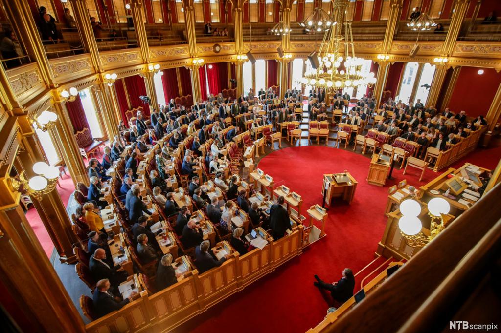 Stortinget, mai 2020. Foto.