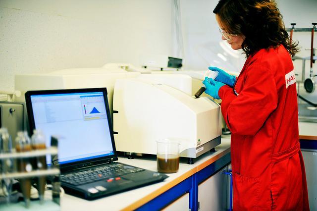Laboratorietest. Foto.