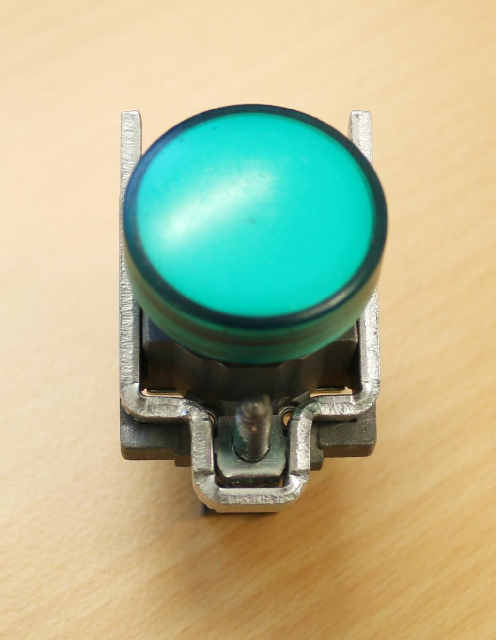 Grønn lampe. Foto.