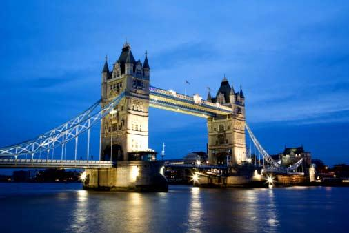 Tower bridge London. Foto.