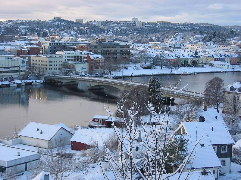 Lundsbrua i Kristiansand. Fotografi.