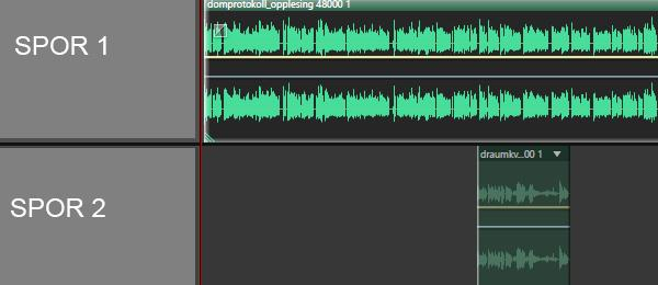 To lydspor. Bearbeidet skjermdump.