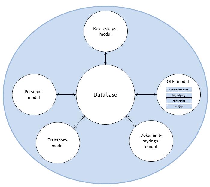 ERP-system med OLFI-modul.