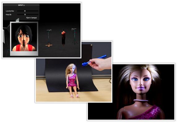 illustrasjon som viser lyssetting
