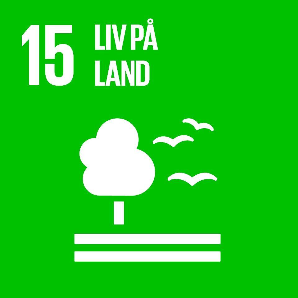 Logo til Liv på land, et av FNs femtende bærekraftsmål. Grafikk.