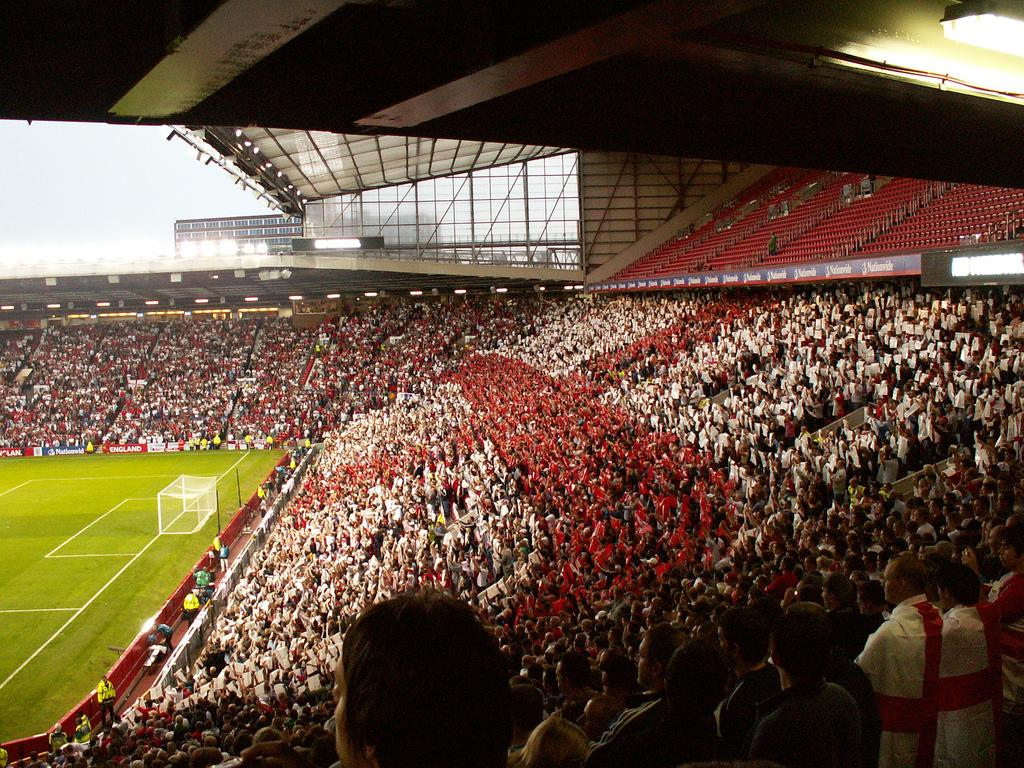 Old Trafford Stadion in Manchester. Foto.