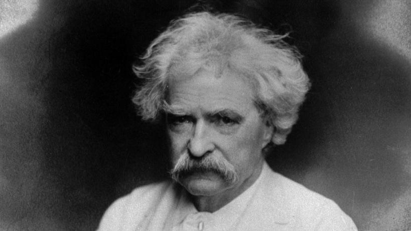 Mark Twain. Foto.