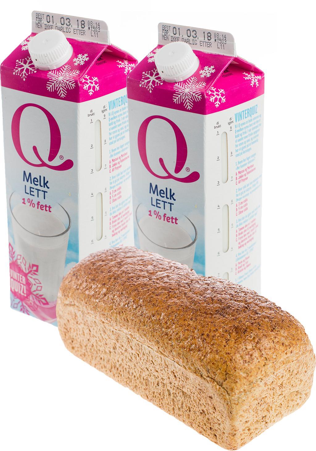 Melk og brød