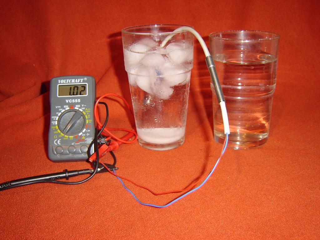 Motstandstermometer. Foto.