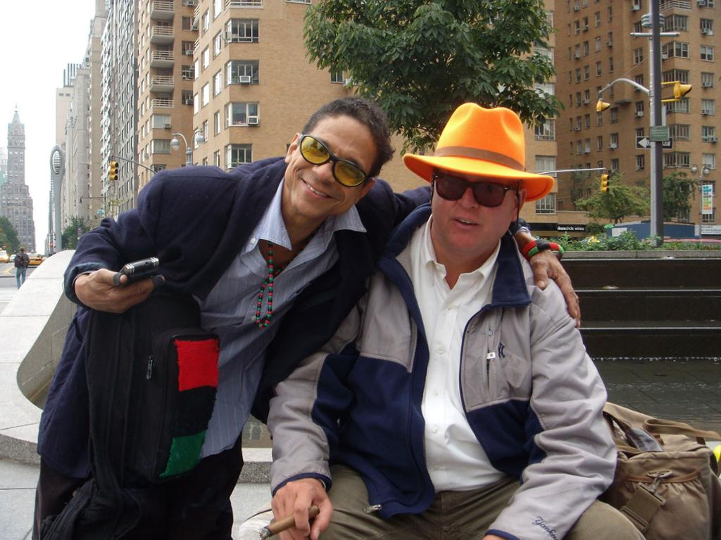 Two men in New York. Photo.