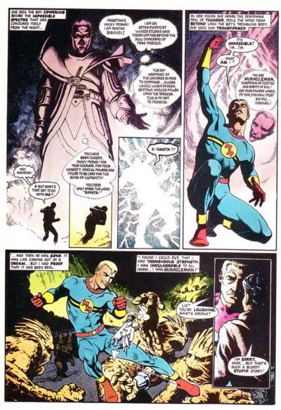 En side fra tegneserien Miracleman der det ligger små ruter inni store ruter. Illustrasjon.