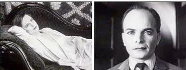 To filmruter. Bildet til venstre viser en kvinne på en divan, til høyre er det et nærbilde av en mann. Fotomontasje.
