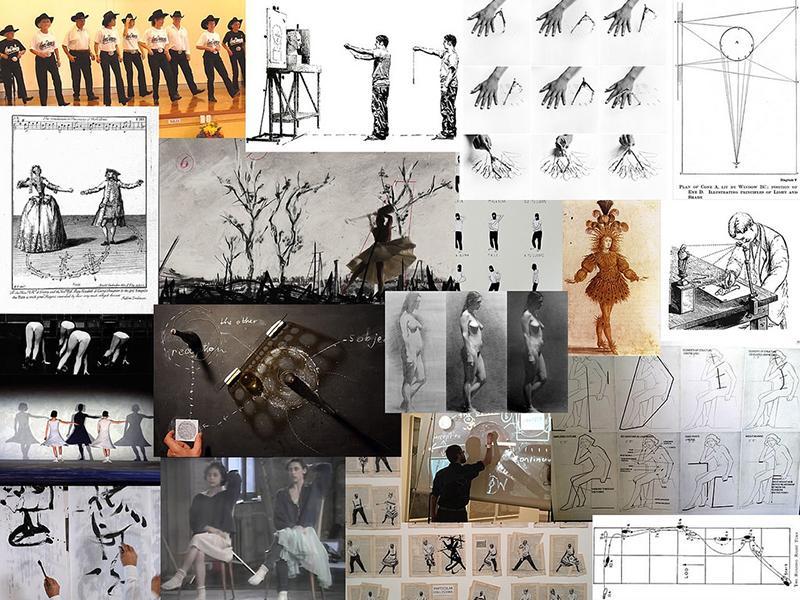 mange ulike bilder limt opp på en tavle. Fotografi.