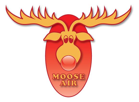 Logo Moose Air. Illustrasjon.