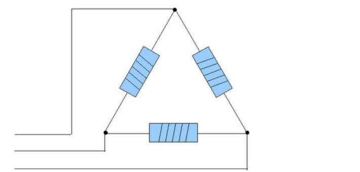 trekantkobling. Foto.