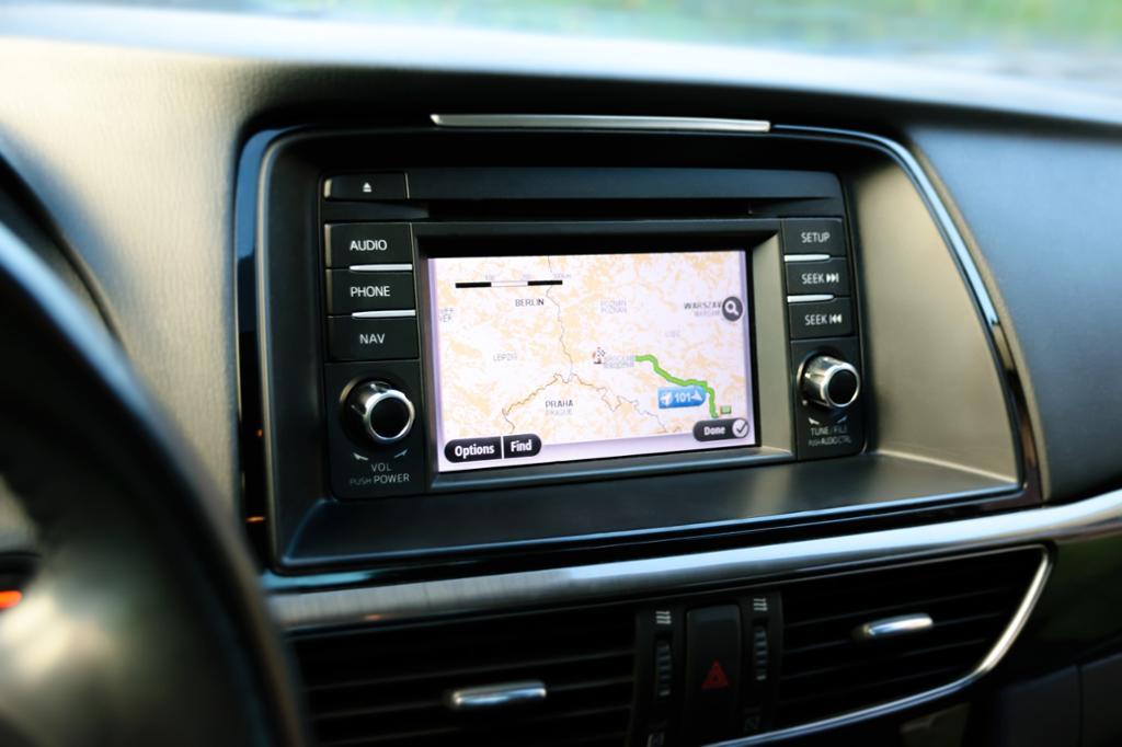 GPS i bil. foto.