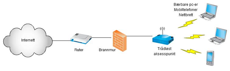 Nettverksdiagram. Illustrasjon.