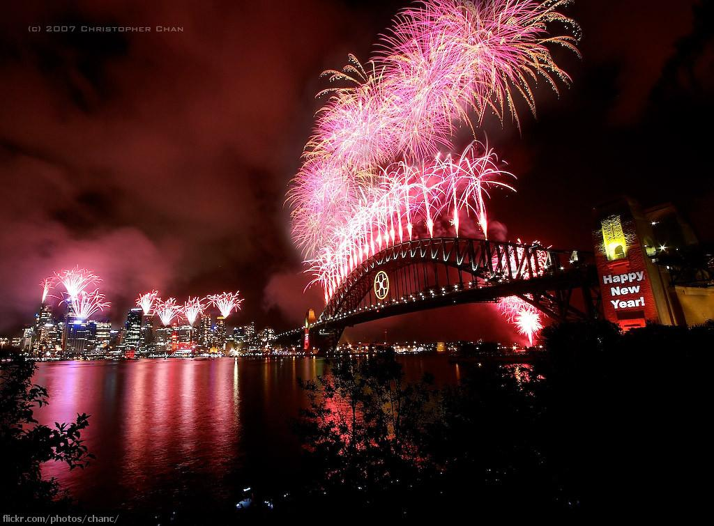 New years celebration in Sidney. Photo.