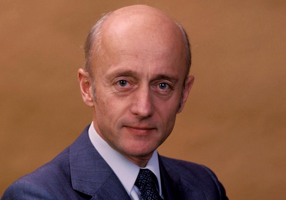 Bilde av Kåre Willoch som statsminister på 80-tallet